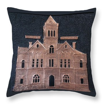 Schley County, Georgia Courthouse Throw Pillow