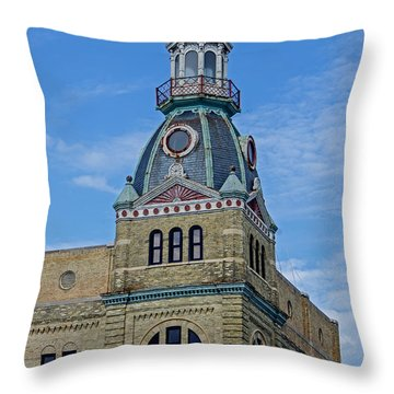 Schlitz Brewing Company 8 Throw Pillow by Susan  McMenamin