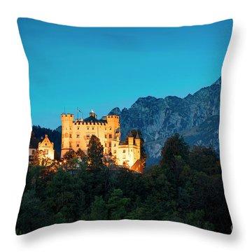Throw Pillow featuring the photograph Schloss Hohenschwangau by Brian Jannsen