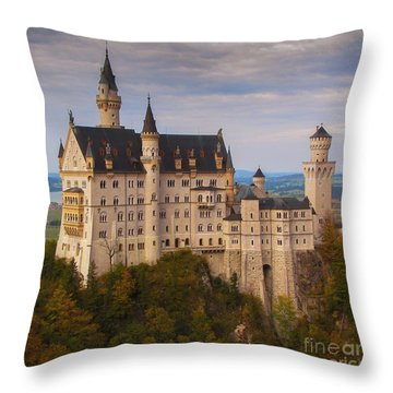 Schloss Neuschwanstein Throw Pillow
