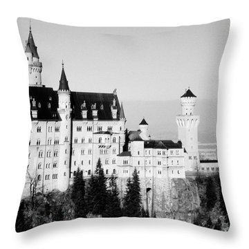 Schloss Neuschwanstein Throw Pillow by Juergen Weiss