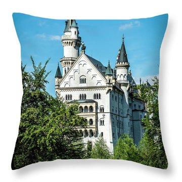 Throw Pillow featuring the photograph Schloss Neuschwantstein by David Morefield
