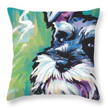 Schnauzer  Throw Pillow by Lea S