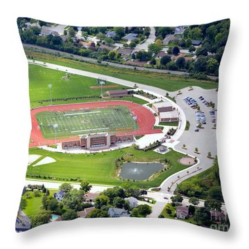 Schneider Field Throw Pillow by Bill Lang