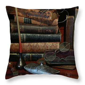 Scholar's Attic Throw Pillow