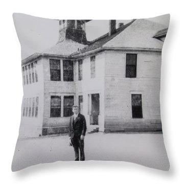 School 1901 Back Throw Pillow