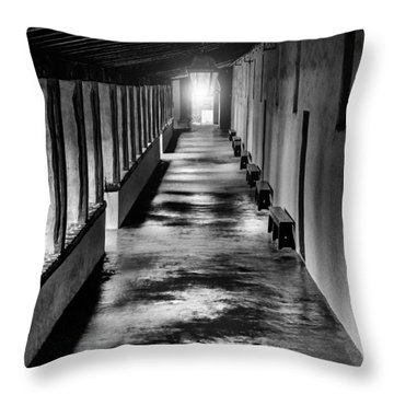 School At The Mission Throw Pillow