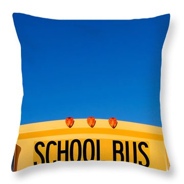 School Bus Top Throw Pillow