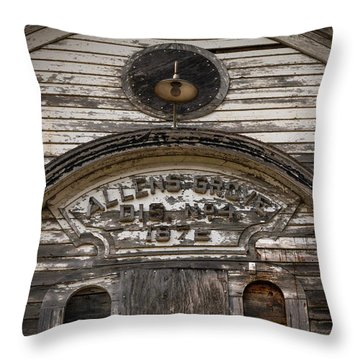 School Front Throw Pillow by Ray Congrove