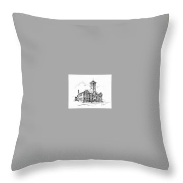 School Historic Philipsburg Montana Throw Pillow by Kevin Heaney