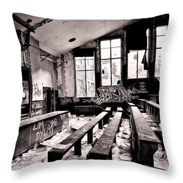 School Is Out - Urban Decay Throw Pillow