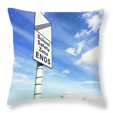 School Safety Sign Throw Pillow