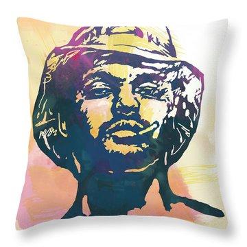 Schoolboy Q Pop Stylised Art Poster Throw Pillow