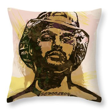 Schoolboy Q Pop Stylised Art Sketch Poster Throw Pillow