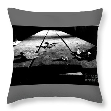 Schooled In Thought - Black And White Throw Pillow