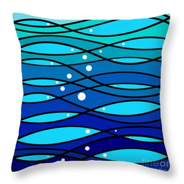 schOOlfish II Throw Pillow