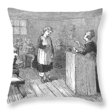 Schoolhouse, 1877 Throw Pillow by Granger
