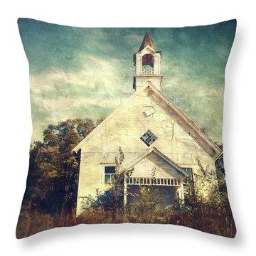 Schoolhouse 1895 Throw Pillow