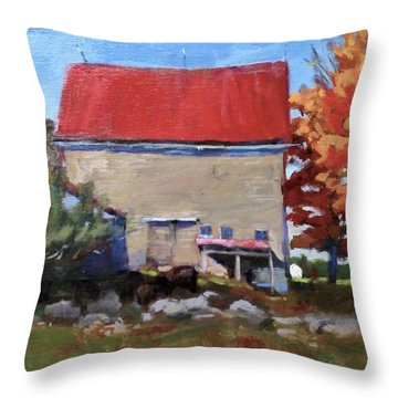 Schoolhouse Farm, Warren, Maine Throw Pillow