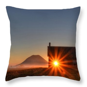 Schoolhouse Sunburst Throw Pillow