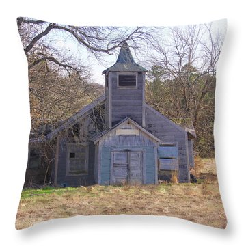 Schoolhouse#3 Throw Pillow