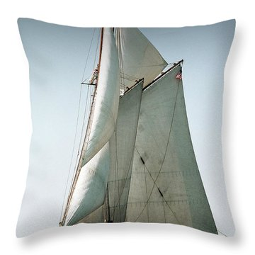 Schooner Ernestina Throw Pillow