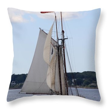 Schooner Heritage Throw Pillow