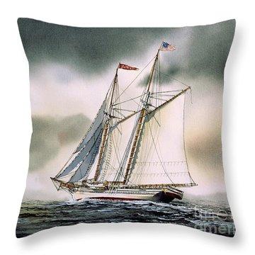 Schooner Heritage Throw Pillow by James Williamson