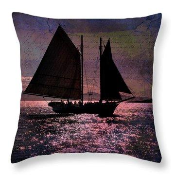 Schooner Mercantile Throw Pillow