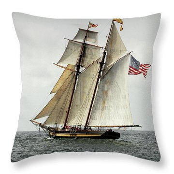 Schooner Pride Of Baltimore II Throw Pillow