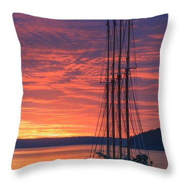 Throw Pillows Magnolia : Schooner The Margaret Todd Photograph by Henk Meijer Photography