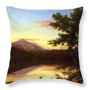 Schroon Lake 1840 Throw Pillow