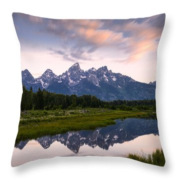 Throw Pillow featuring the photograph Schwabacher Landing In 60 Seconds by Dan Mihai
