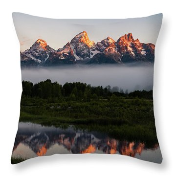 Schwabacher Landing Sunrise Throw Pillow