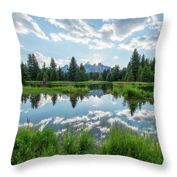Throw Pillow featuring the photograph Schwabacher's Landing by Dustin LeFevre