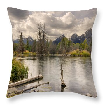 Schwabachers Landing Throw Pillow