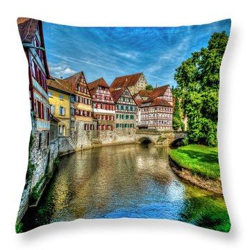 Throw Pillow featuring the photograph Schwabish Hall by David Morefield