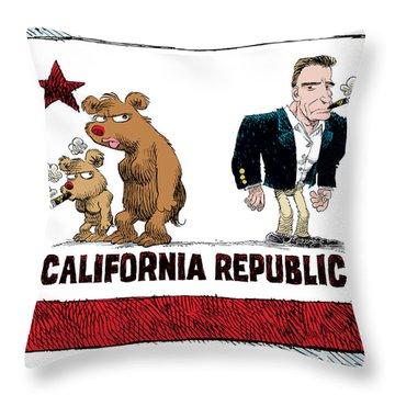 Schwarzenegger Love Child Flag Throw Pillow