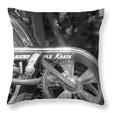 Schwinn Apple Krate Throw Pillow by Lauri Novak