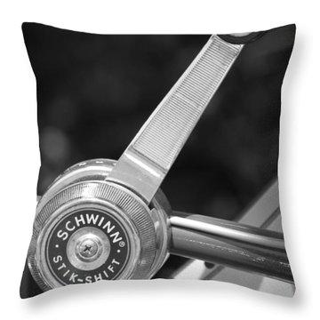 Schwinn Stik-shift Throw Pillow by Lauri Novak