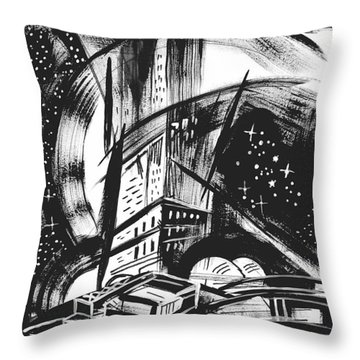 Sci Fi City Throw Pillow