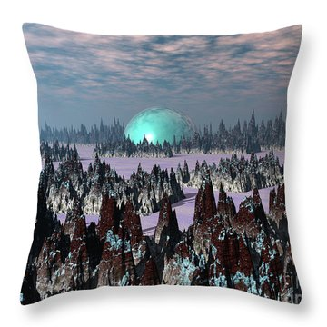 Sci Fi Landscape Throw Pillow