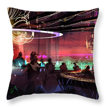 Sci-fi Lounge Throw Pillow