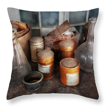 Science - Chemist - Ready To Experiment Throw Pillow by Mike Savad