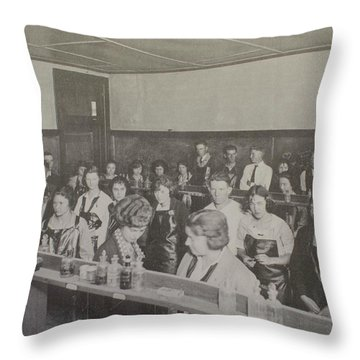 Science Lab Throw Pillow