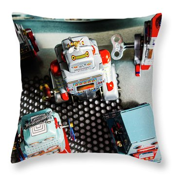 Science Of Automation Throw Pillow