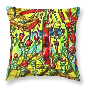 Science Of Chess Throw Pillow