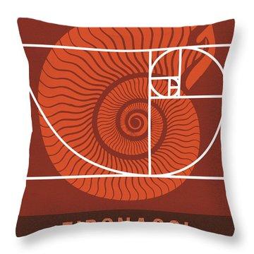 Science Posters - Fibonacci - Mathematician Throw Pillow