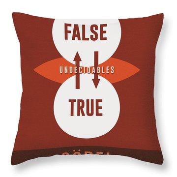 Science Posters - Kurt Godel - Mathematician, Logician Throw Pillow