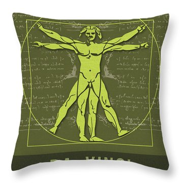 Science Posters - Leonardo Da Vinci - Artist, Inventor, Mathematician Throw Pillow